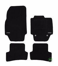 LOGO Fully Tailored black floor car mats fits Dacia Logan mk2 2013-up  4pcs set