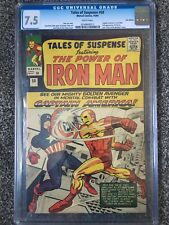 Tales of Suspense # 58  Captain America vs Iron Man!  CGC 7.5! Civil War Fight!