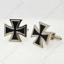 German Iron Cross Award MILITARY CUFF LINKS with Presentation Box Army Cufflinks
