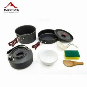 Camping cooking set Outdoor cookware set camping tableware