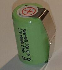Einzel-Zelle NiMH Akku 2/3A 1,2V 1800mAh 28,5x16,7mm Super-Cell mit U Lötfahnen