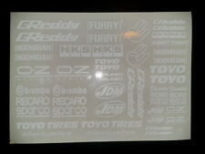 1/10 drift rc car stikers GREDDY decals white - 2 PCS !