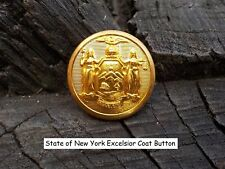 Old Rare Vintage Antique War Relic New York Button Loaded with Gold Gild
