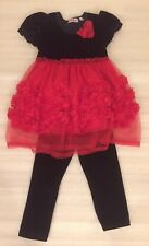 Girl Code Holiday 2 Piece Outfit Set Dress & Pants Size 5