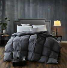 Twin Size Goose Down Comforter Soft&Warm,Grey Comforter