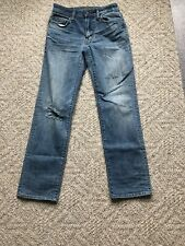 AMERICAN EAGLE  RIPPED JEANS SIZE 26/30 ORIGINAL STRAIGHT JEANS EUC
