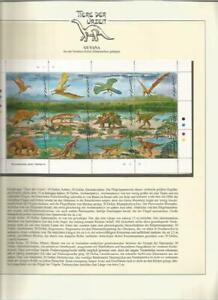 81577/ Dinosaurier Fauna Tiere ** MNH OHNE VORDRUCK GUYANA
