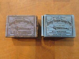 LETTERPRESS GAUGE PINS MEGILL'S SPRING TONGUE GAUGE PINS BOXES W/ SOME LEFT