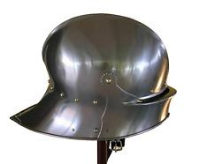 18GA SCA LARP Medieval Knight Wearable German Sallet helmet Replica