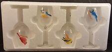 4 BACKYARD BIRDS CATHY BRADFORD - White Wine Glasses - only 5000 set