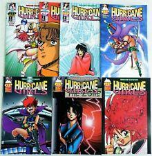 HURRICANE GIRLS Comic Set # 1 2 3 4 5 6 7 NM 1995 MANGA ~ Antarctic Press RARE