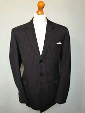 Vintage 1960's navy pinstripe bespoke single breasted suit size 40