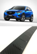 To Fit Mazda CX-5 2012Up Carbon Rear Bumper Protector Scratch Guard S.Steel