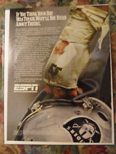 1989 Print Ad Espn Sports Tv Los Angeles Oakland Raiders Promo Matt Millen #55