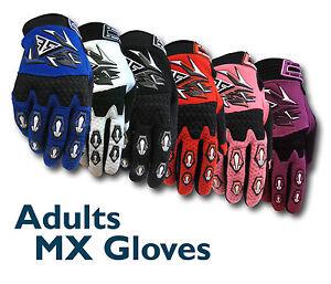 MX Motocross Adult Gloves THIN - BMX/ATV/Dirt/Quad Bike/Trail/DH/MTB NEW