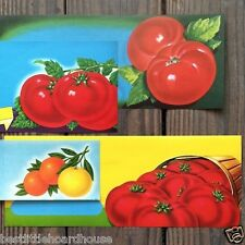 8 Vintage Original Different TOMATO VEGETABLE Labels Lot 1930S NOS Unused Label