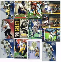 1998 thru 2001 Fleer  Football Trading Collector Cards  Lot of 13