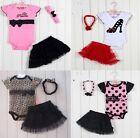 Baby Toddler Infant Girls Headband+bodysuit+Skirt Outfits Clothes Tutu dress