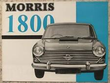MORRIS 1800 Car Sales Brochure Feb 1966 #6600/A