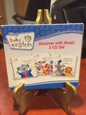 Disney Baby Einstein Discover with Music: Boxed 3 CD Set (2006) 56 songs/LN!