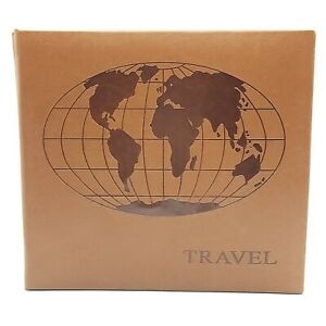 """Pioneer 9"""" Photo Album Brown Faux Leather Travel Coffee Table Book Memories"""