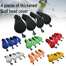 4Pcs Universal Golf Club Head Cover Golf Neoprene Protective Cover Replacement,