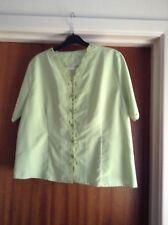 Short Sleeve Light Green Button Through Blouse Brand New