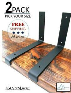 2 - PACK Shelf Brackets, Pick Your Size, Metal Shelf Brackets, Iron Brackets