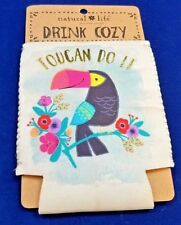 Toucan Do It Drink Beer Sleeve Cooler Cozy Koozie Jimmy Buffett by Natural Life