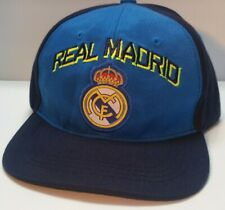 REAL MADRID F/C BLUE BASEBALL HAT Adjustable Snap Back Cap Free Shipping in Box!