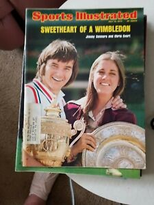 7/15/74 SPORTS ILLUSTRATED JIMY CONNORS & CHRIS EVERT SWEETHEARTS GROBEE 1957