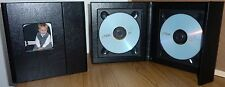 Deluxe Black Double Faux Leather DVD Case Ideal For Weddings Discs And More