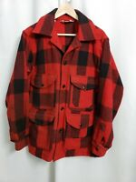 Vintage Woolrich size 42 Wool Red & Black Buffalo Plaid Hunting Jacket