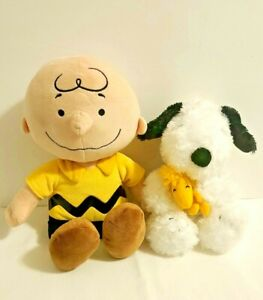Peanuts Charlie Brown Khole's Cares 2013 & Hallmark Snoopy Plush Lot of 2