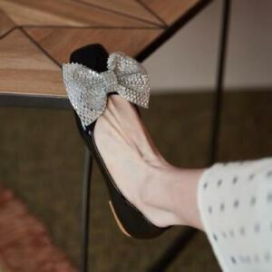 Fashion Women's Round Toe Bowknot Slip On Lolita Sweet Girl Flat Shoes Zipper