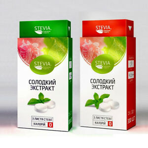 STEVIA TABLETS STICK EXTRACT NATURAL SWEETENER FOR DIABETIC FREE CALORIES/SUGAR