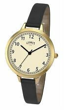 Limit Ladies Classic Watch Cream Dial Thin Black Strap 6229