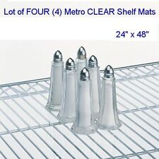 "New 4-PACK 24"" x 48"" Metro Brand 2448CL-4 CLEAR SHELF MATS/INLAYS/LINERS"