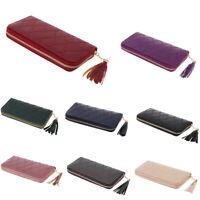QA/_ Women Tassels Zip Faux Leather Coin Pouch Mini Key Chain Backpack Bag Pret