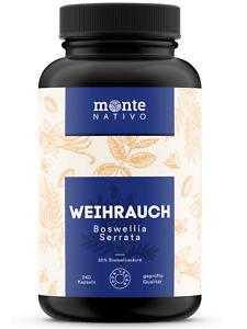 Weihrauch Extrakt MonteNativo –  240 Kapseln (85% Boswelliasäure)