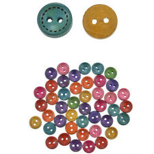 10mm Mixed Wood Button Scrapbooking Crafts Garment Accessories 100PCS
