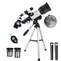 Astronomical Telescope 150 x 70mm Aperture Refractor HD Tripod Mobile Adapter