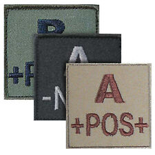 Fabric Military Army Tactical Blood Group Identifier Medical Patch Badge Flash