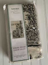 New Waverly Wellington Scenic Toile Black & Cream Dining Room Chair Cover Coton