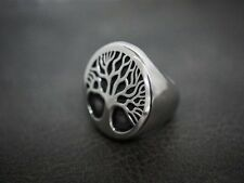 Mens Heavy Silver Tree Ring for Timberland Boots Apparel TR199 US seller