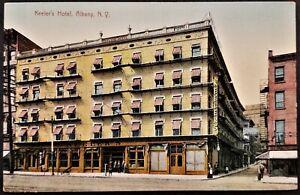 Main Street: Keeler's Hotel, People, Broadway & Maiden Lane, Albany, NY. Pre-15.