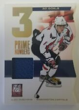 2012 Panini Elite Alex Ovechkin 3 Prime Numbers Relic Jersey Patch /301