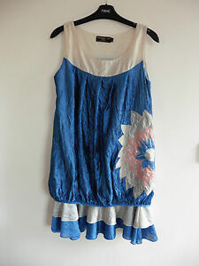 Gorgeous Blue & Cream Layered Dress from Pussycat London - Size Med - BNWOT!!