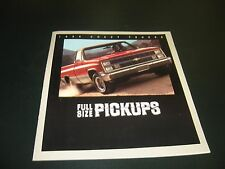 1984 Chevrolet Truck Large Full Color Brochure