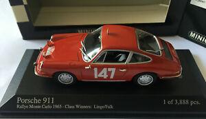 PORSCHE 911 RALLYE MONTE CARLO 65 CLASS WINNERS LINGE/FALK MINICHAMPS 430656747
